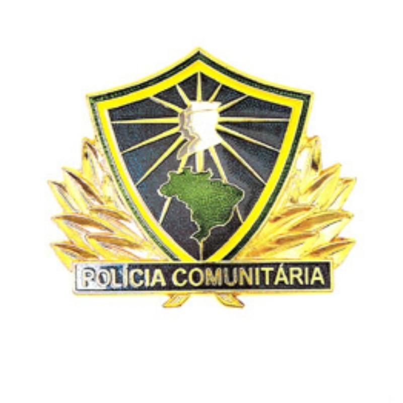 Distintivo de Metal Policia Comunitaria I - PMMG