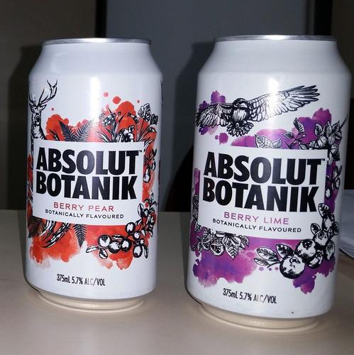Vodka Absolut Botanik Par Latas 2 Unidades - Raras Colecao Original
