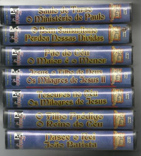 Filmes Lote 20 Vhss Desenhos Da Bíblia Novo Velho Testamento