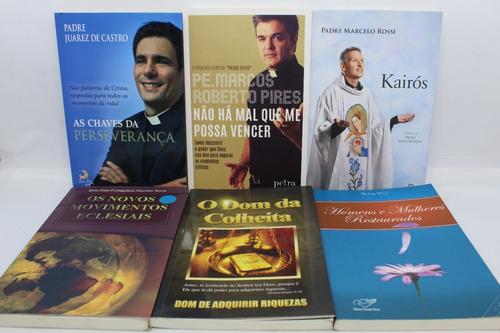 Lote 13 Livros Padre Marcelo Rossi Pio Fábio De Melo Kairós Original