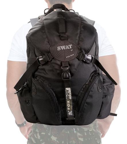 Mochila Policial Swat Tatica Rip Stop Militar Reforçada Top Original