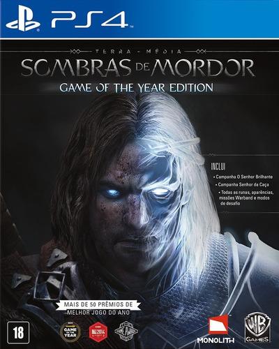 Sombras De Mordor Game Of The Year Edition Em Português Ps4 Original