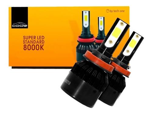 Kit Super Led 8000k Techone H1 H3 H4 H7 H8 H9 H11 Hb3 Hb4 Original