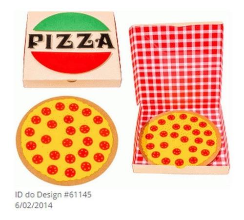 Arquivo Silhouette Caixa Pizza  P/ Corte - 0099 Original