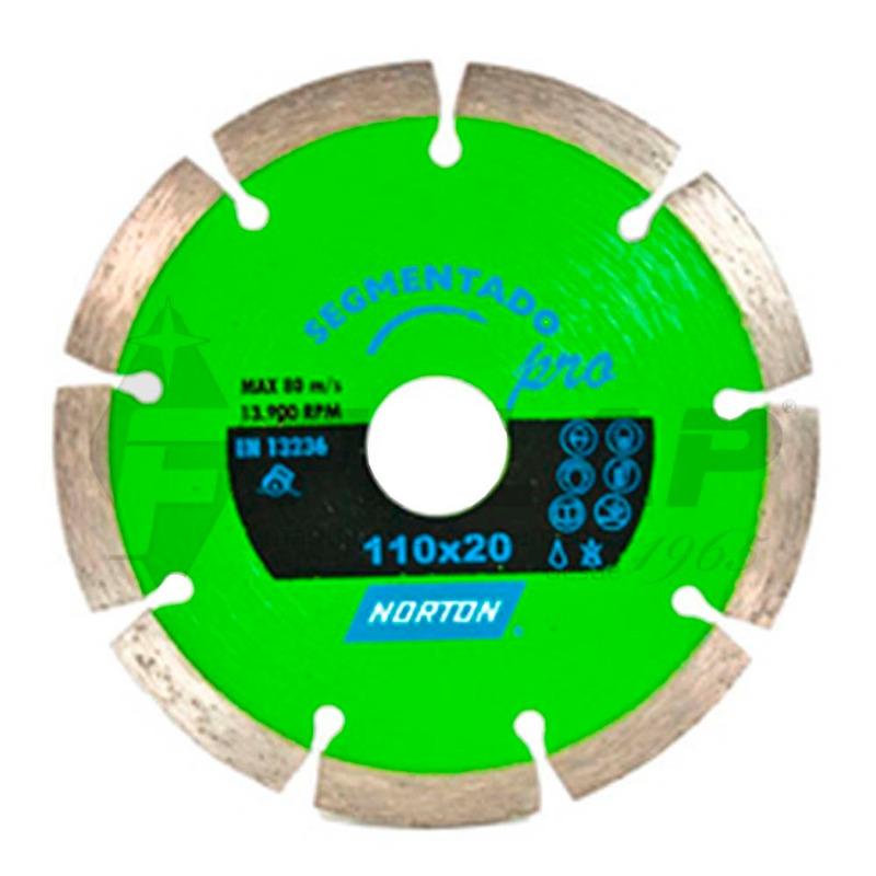 Disco Diamantado Norton Pro Segmentado 180 x 8 x 22,23mm