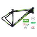 Quadro Bicicleta Gta Preto Cinza Verde NX9