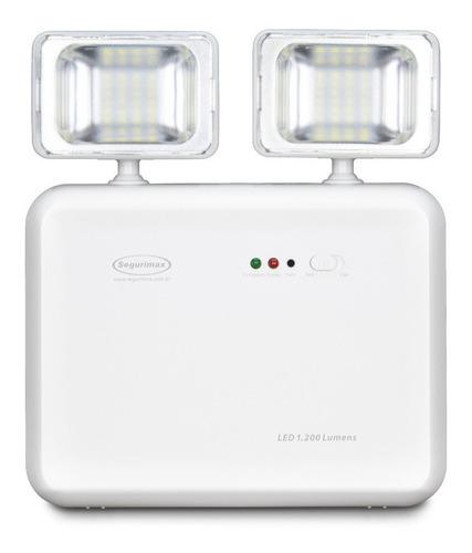 Luminária Emergência Segurimax Led 1200 Lumens 2 Farol Original