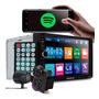 Kit Central Multimídia 2 Din Universal Bluetooth Câmera Ré