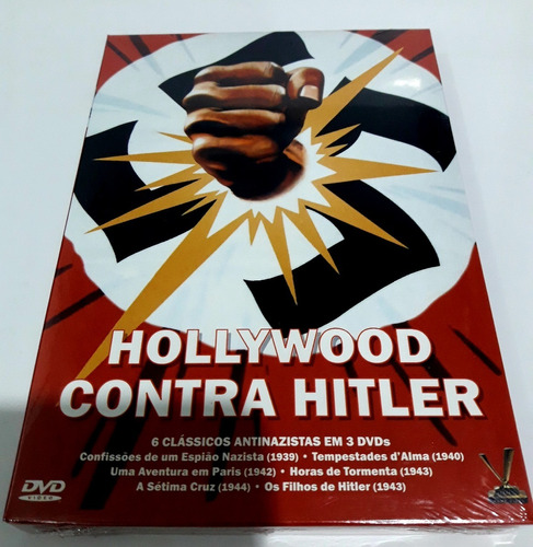 Hollywood Contra Hitler - 6 Filmes Antinazistas Box Lacrado Original