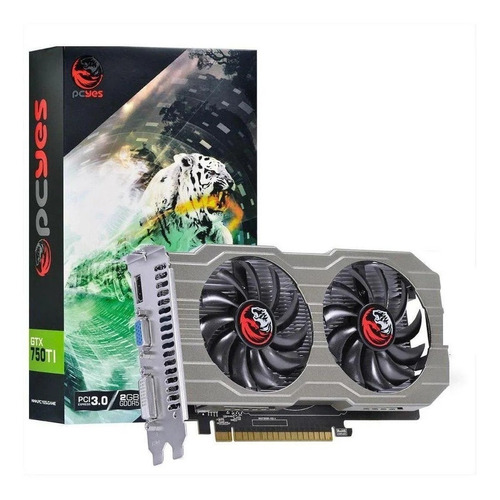 Placa De Video Pcyes Geforce 2gb Gtx 750ti Gddr5 128bits C/ Original