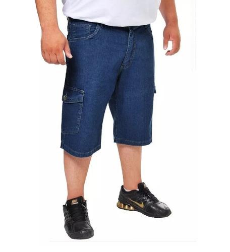 Bermuda Jeans Masculina Plus Size Tamanho Grande Até Nº 68 Original