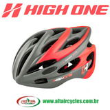 Capacete High One LM008 Cinza Verm