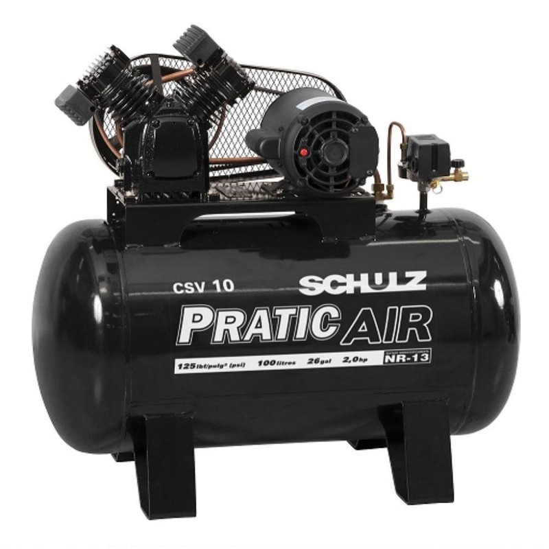Compressor CSV 10/100 2C2P 220V Pratic Air-Schulz