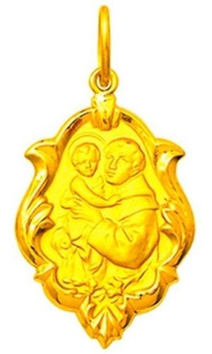 Medalha 46 Imagens De Santos Disponível Ouro 18k 1,5cm Ot1-o Original