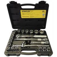 """Jogo de Soquetes de 1/2"""" 22 peças (8 a 32 mm) STMT81242-840 - Stanley"""