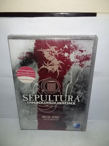 Sepultura,dvd Tamboursdubronx,alive At Rock In Rio,lacrado Original
