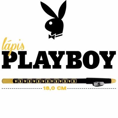 Kit C/12 Lápis Preto Delineador Olho Playboy Original em Rio de Janeiro