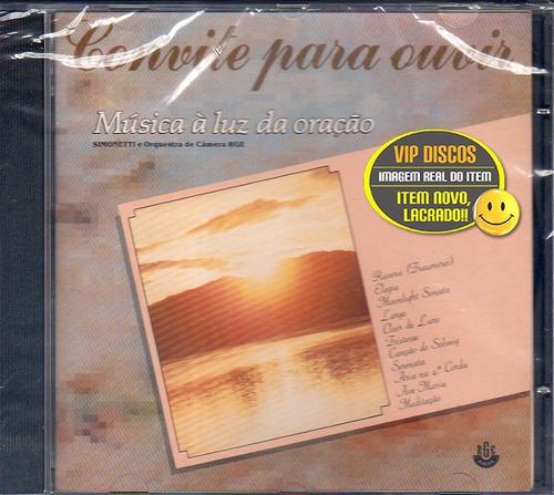 Cd Música A Luz Da Oração Simonetti & Orquestra Novo Lacrado Original