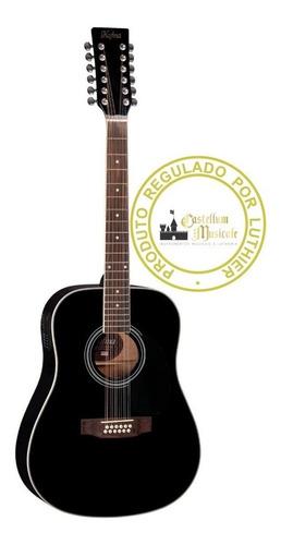 Violão Hofma Folk He 215 E 12 Cordas Regulado Por Luthier Original