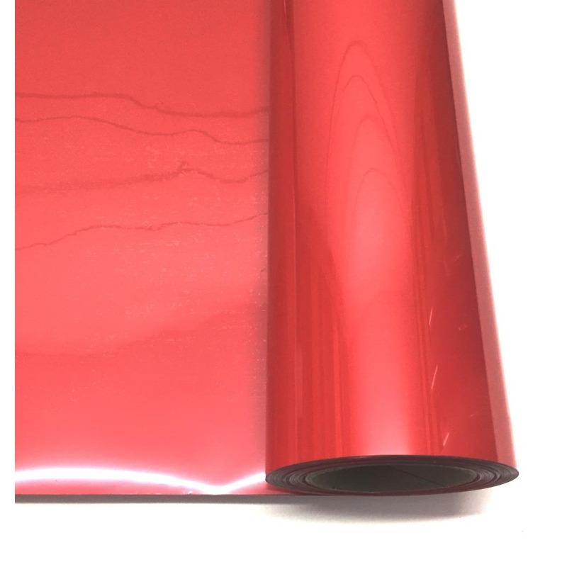 Filme para estampa - power film (pvc) larg. 0,50 m  vermelho