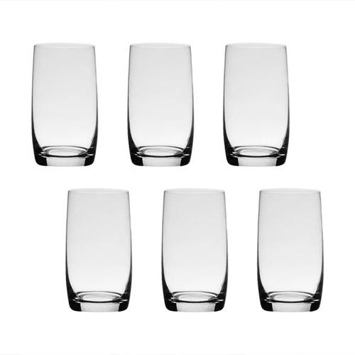 6 Copos Longos De Cristal Para Água 380ml Ideal Bohemia Original