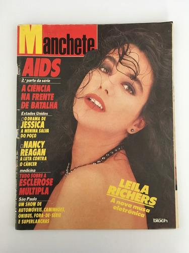 Revista Manchete Leila Richers - 31 Outubro 1987 Nº 1854 Original