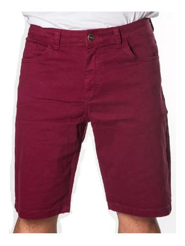 Bermuda Colorida Jeans Sarja Masculina Plus Size Original