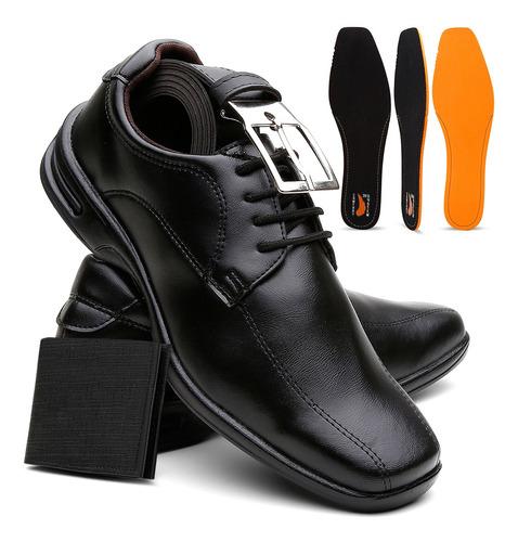 Sapato Ortopedico Masculino Confort Anti Stress Palmilha Gel Original