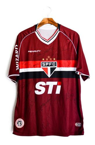 Camisa Futebol Masculino São Paulo 13/14 Penalty Autografada Original
