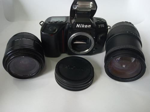 Câmera Fotográfica Nikon F70 Máquina Analógica + Lente Zoon Original