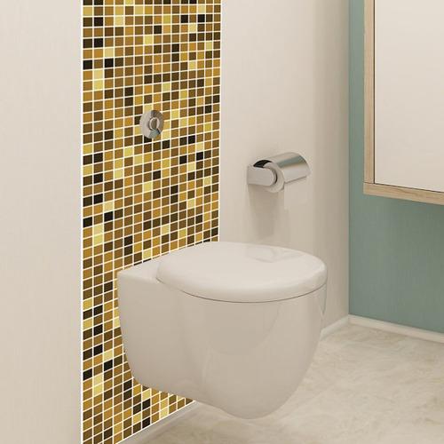 Adesivo Pastilha Banheiro Cozinha Vinil 10un 25x25 S/ Resina