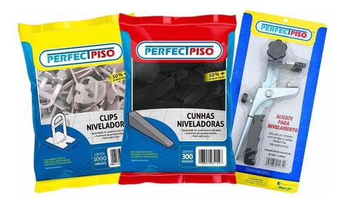 Kit Nivelador De Piso 1.550 Clips + 300 Cunhas + 01 Alicate Original