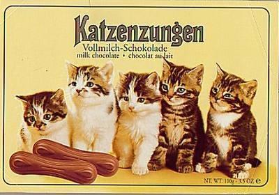 Chocolate ao leite tipo língua de gato - Katzenzungen