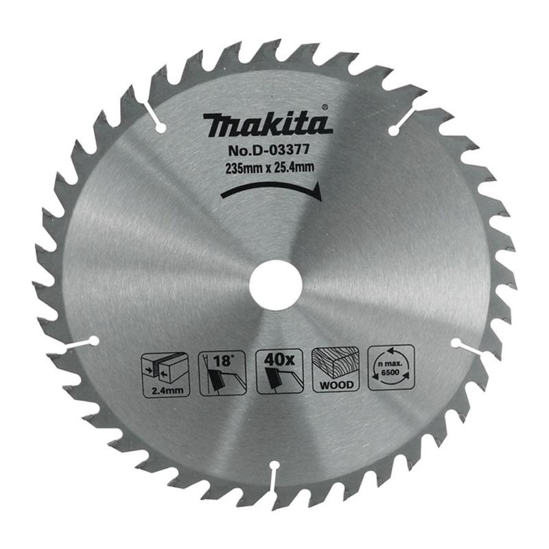 Lâmina de Serra 235x25x2.2 40D para Madeira - D-03377 - Makita