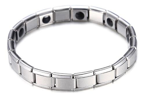 Pulseira Bracelete Magnética Aço Elástica Equilíbrio Co.55 Original
