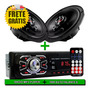 Kit Alto Falante L200 6 Pol Polegada E Radio Mp3 Bluetooth