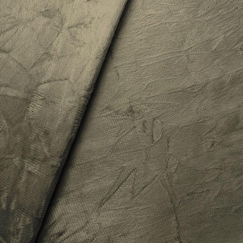 Tecido suede amassado marrom Larg. 1,40 m