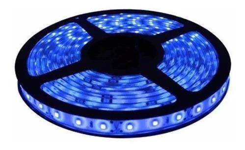 Fita Led Azul 5050 12v Rolo Com 5 Metros 300 Leds Silicone Original