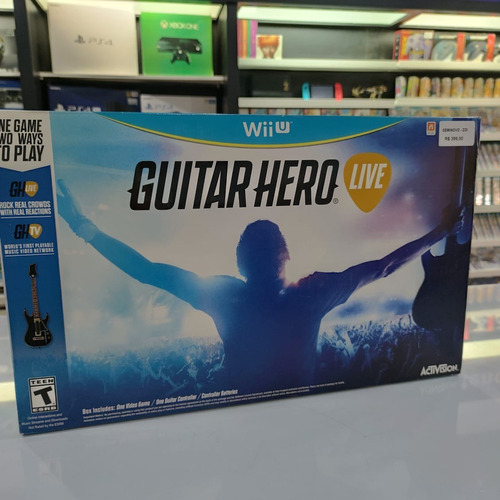 Guitar Hero Live Wii U Completo Seminovo Original