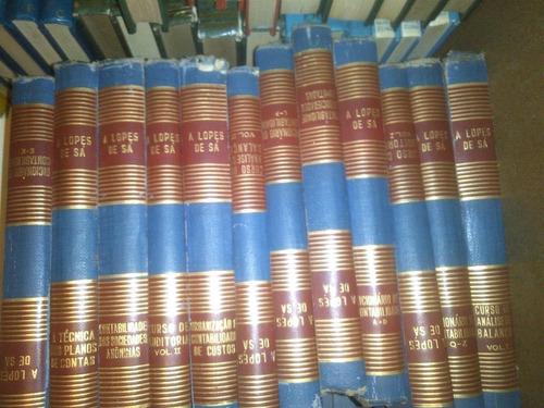 Biblioteca Contábil - Prof. A. Lopes De Sá 12 Volumes Prof. Original