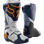 Bota Fox Mx Comp R Azul Laranja Motocross Trilha Promoção!!