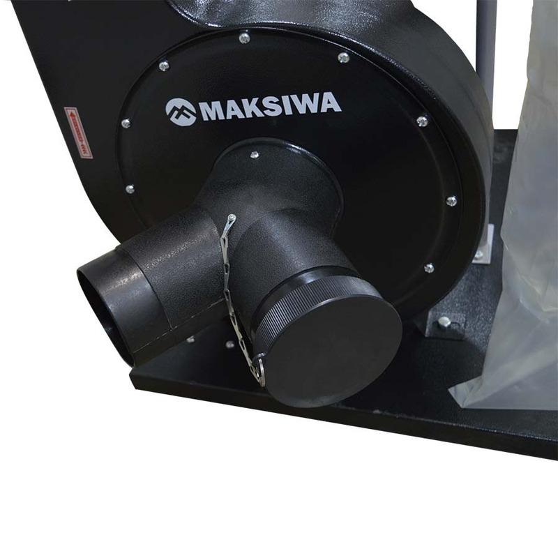 Coletor de Pó Eco com 2 Bocas e 1 Reservatório Black Edition CP/2.C - Maksiwa
