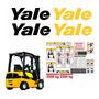 Kit Adesivo Para Empilhadeira Yale Completo Etiquetas Mk