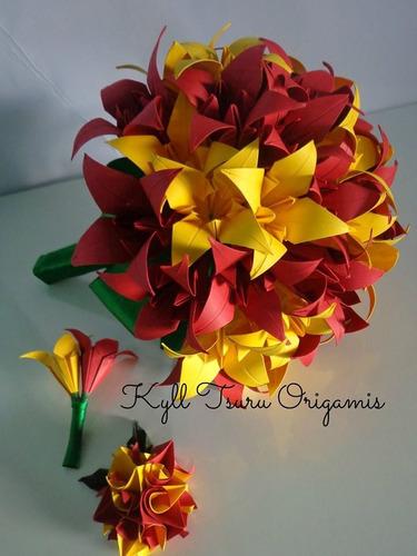 Buquê De Lírios Em Origami