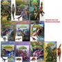 Coleção Com 6 Livros De Dinossauro Com Miniatura Articulada