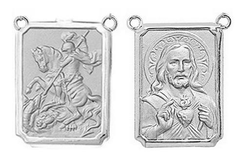 Medalha P/ Escapulario 27 Imagens De Santos Ouro 18 Df T2br Original