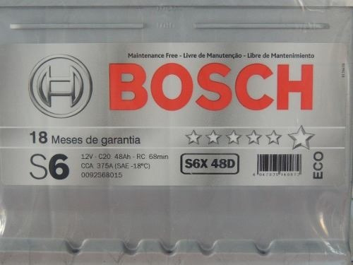 Bateria Selada Bosch S5 60ah Linha Nissan