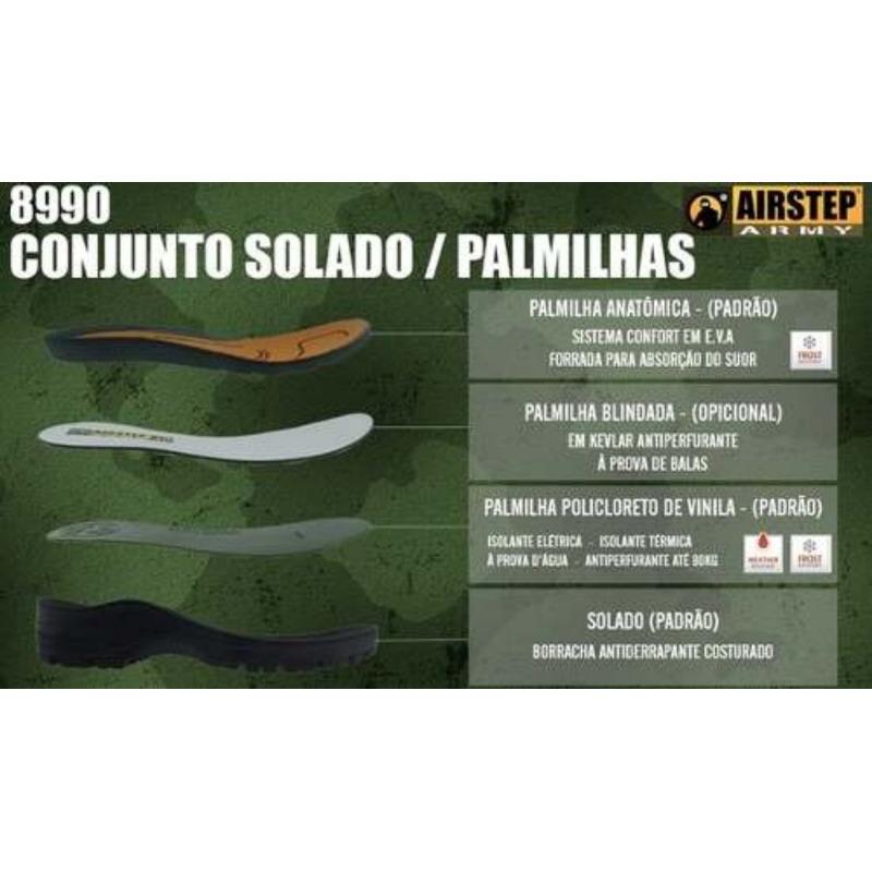 Coturno Militar Airstep 8990-1  Black Squad