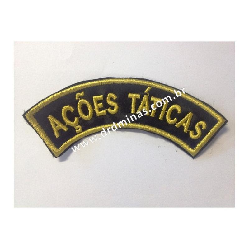 Patch / Distintivo Bordado Ações Táticas - U
