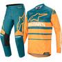 Calça/camisa kit Alpinestars Racer Supermatic 2020 Petro/lar